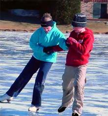 учимся кататься на ледовых коньках