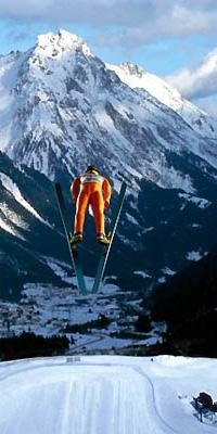 лыжи - прыжки с трамплина
